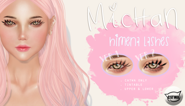 second life catwa lashes eyelash michan store applier sl cute